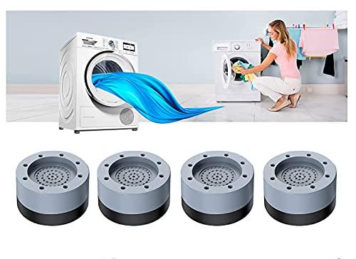 Phantasy4 Pezzi Piedini per Lavatrice, Piedini per lavatrice Antivibrazione, Ammortizzatore Vibrazione per Lavatrice in Gomma, per lavatrice e Asciugatrice, 4 cm
