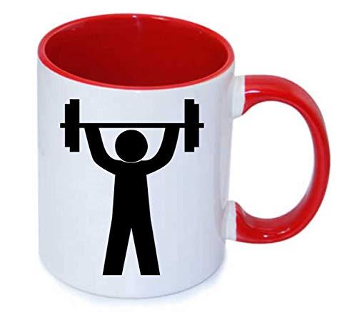Druckerlebnis24 Tasse - Fitness Studio Piktogramm Sportler - Kaffee-Tasse 330ml - Unisize aus Keramik - Tee