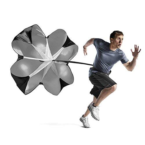 Speed Resistance Training Paracadute Running Sprint Chute 56 pollici per Calcio Allenamento per la velocità con paracadute per il corridore, il calcio di perforazione