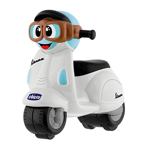 Chicco- Mini Moto Vespa, Color Blanco (Artsana Spain 9626000000)