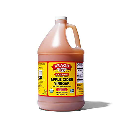 Bragg Organic Apple Cider Vinegar With the Mother– USDA Certified Organic – Raw, Unfiltered All Natural Ingredients 1 Gal (128oz) Liquid