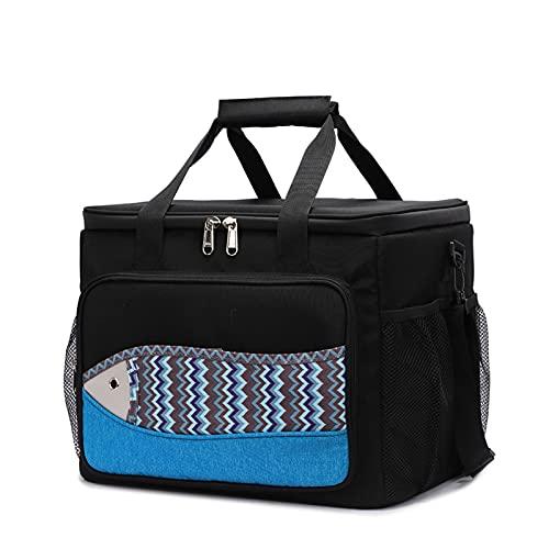 LQIAN Paket Picknick Portable Container Bags Weinkühltasche für Frauen(Size:Big Black)