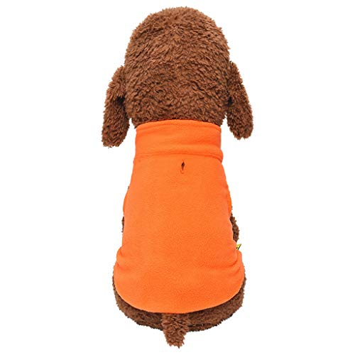 Cuteelf Hunde Kleidung Warme Kleidung Weste Reversible Winterjacken Mäntel für Kleine Mittelgroße Hund Haustier Sweatshirt Herbst und Winter Komfort Volltonfarbe Katzen