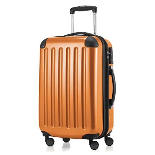 HAUPTSTADTKOFFER - Bagaglio a mano Rigida Alex, 4 Doppie ruote, TSA, Taglia 55 cm, 42 Litri, Colore Arancione