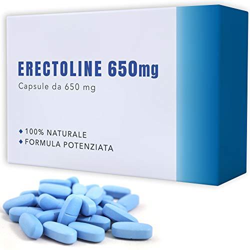 ERECTO-LINE 650 [ 20 COMPRESSE ] Senza Controindicazioni | Made In Italy | Energizzante Naturale con Tribulus, Maca e L Citrullina.