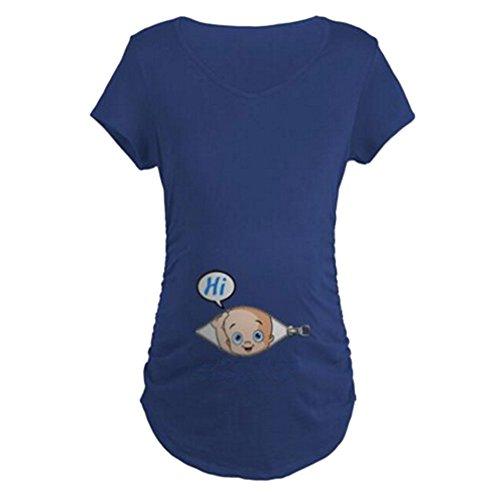 Witzige Umstandsmode süße Schwangere Maternity Damen Umstandsmode T-Shirts mit Mutterschafts-niedliche lustige Slogan Motiv Schwangerschaft Geschenk Kurzarm