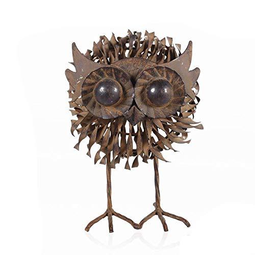 LIUSHI Animal Garden Ornaments Indoor/Outdoor Farmyard Animal Metal Sculpture,C+Owl