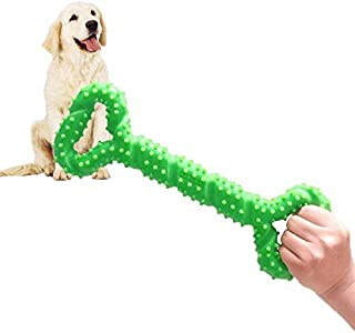 BLUEISLAND Durable Dog Chew Toys 13 Inch Bone Shape Extra Large Dog Toys with Convex Design Strong Tug Toy for Aggressive ...
