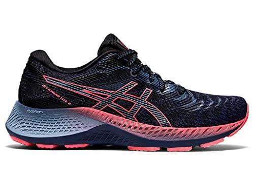 ASICS Women's Gel-Kayano Lite 2 Running Shoes, 8, Thunder Blue/Blazing Coral