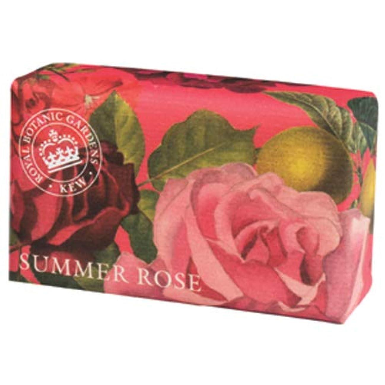 農学ダイアクリティカルトピックEnglish Soap Company イングリッシュソープカンパニー KEW GARDEN キュー?ガーデン Luxury Shea Soaps シアソープ Summer Rose サマーローズ