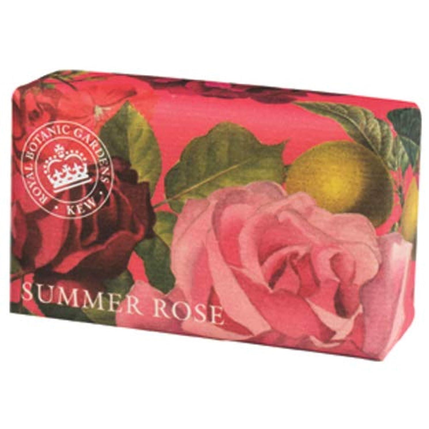 家全国正確にEnglish Soap Company イングリッシュソープカンパニー KEW GARDEN キュー?ガーデン Luxury Shea Soaps シアソープ Summer Rose サマーローズ