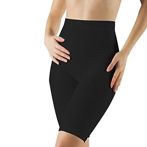 Body&Co Klassische Short aus weicher Mikrofaser mit Massagewirkung und koffeinfreien Mikrokapseln, die Fett verbrennen und gegen Cellulite wirken