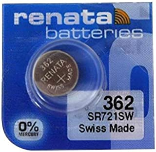 Renata Single Watch Battery Swiss Made 362 or SR 721 SW or AG 11 1.5 V (3 x 362 or SR 721 SW)