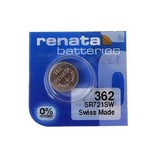 Renata einzelne Uhrenbatterie Swiss Made 362 oder SR 721 SW oder AG 11 1,5 V (2 x 362 oder SR 721 SW)