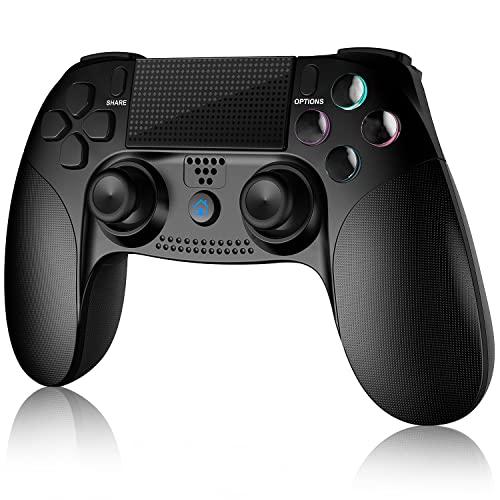 Mando para PS4, Inalámbrico Mando para Playstation 4/Pro/Slim/ PC Inalámbrico Controlador Wireless Bluetooth Gamepad Joystick con Vibración dualshock/ Seis Ejes/Pantalla LED/Puerto de Audio