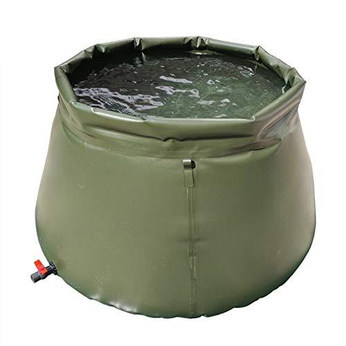 Sac de stockage d'eau de grande capacité Réservoir d'eau douce, Réservoir de stockage sur le terrain Seau de stockage d'eau pliable, Collecteur d'eau de pluie ménage avec valve marche-arrêt