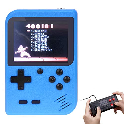TAPDRA Handheld Game Console, 400 Classic Retro Game Station with 3.0 inch Screen Portable Supporting 2 Player, Good Gifts for Kids (Blue)