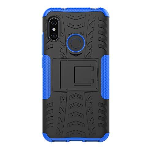 """FaLiAng XiaoMi Mi A2 Lite(5.84"""") Funda, 2in1 Armadura Combinación A Prueba de Choques Heavy Duty Escudo Cáscara Dura para XiaoMi Mi A2 Lite(5.84"""") (Azul)"""