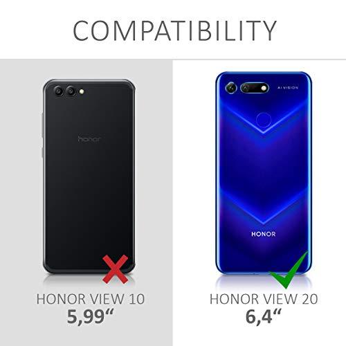 kwmobile Huawei Honor View 20 Hülle - mit Kordel zum Umhängen - Silikon Handy Schutzhülle für Huawei Honor View 20 - Transparent - 6