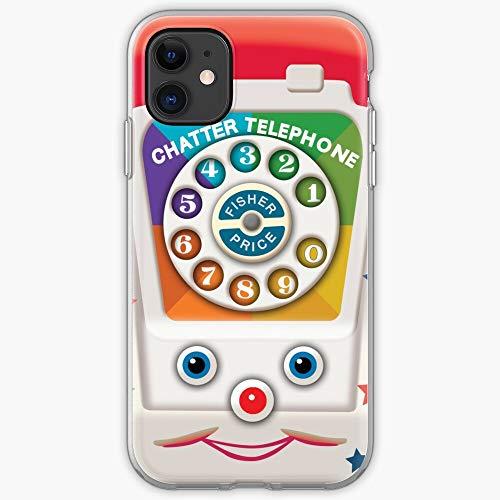 Telephone Cute Funny Retro Fisher Price Funky Toy Vintage Cubierta de la...