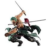 Retrato de Piratas de una Pieza: Figura de PVC de Sa-MAX Roronoa Zoro (versión San Zen) - Alto 7.8 Pulgadas