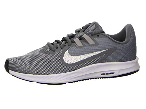 Nike Women's Downshifter 9 Running Shoe, Cool Grey/Metallic Silver-Wolf Grey, 10.5 Regular US