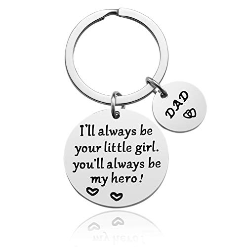LanMa Dad Keychain Fathers Day Gift From Daughter for Father Christmas Birthday Day(Be Your Girl,My Hero)