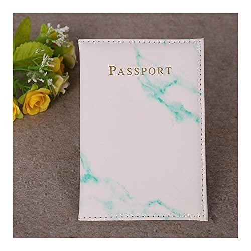 LMNUY Tarjetero Starry Sky Passport Cover Fashion Women Men PU Cuero Travel Cartera Paisaje Pasaporte Holder Case Titular de los Casos de Tarjeta (Color : B Green)