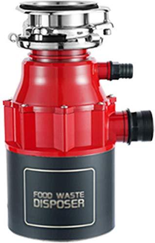 ZKHD Kompakte Müllentsorgung, Entsorgung Von Lebensmitteln, Zur Mahlen Von Nahrungsmittelabfällen, Dauerhafter Futterbeleuchtungsschutz, Platzsparend, Rot