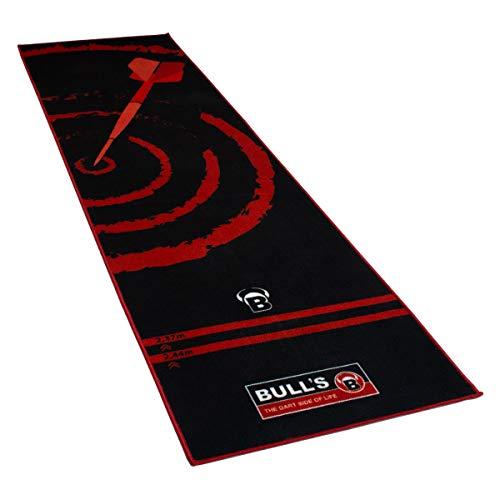 """BULL'S Carpet Mat """"120"""" Green, Dartteppich mit rutschfester Unterseite aus Gummi, umweltfreundliche Turnier Dartmatte mit offiziellem Abstand zum Dartboard 237cm, Schutz für Darts und Tips, 280 x 66cm"""