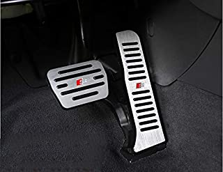 Moonlinks Compatible with Audi Q3 2015-2018 TT 2010-2014 Gas Brake Pedal Anti-Slip Aluminium Alloy Gas and Brake Pedal Covers (for Q3 A3 TT)