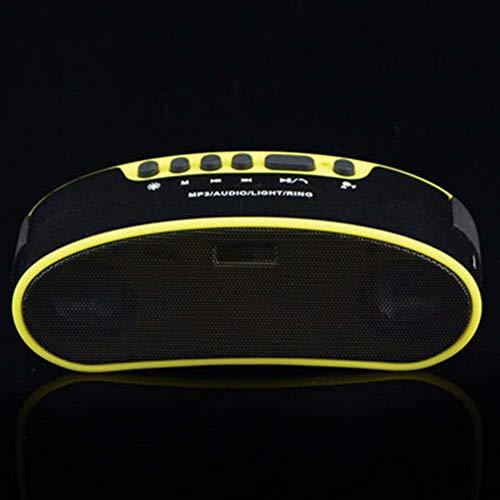 Bluetooth-luidspreker, 6 W, draagbare luidspreker met rijke bassen, draadloze claxon voor fietsen met USB-aansluiting en 1800 mAh powerbank, geïntegreerde microfoon