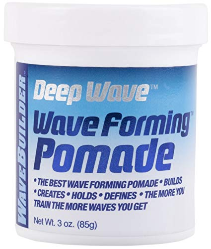 WaveBuilder Deep Wave Forming Pomade | Original Formula Builds, Creates, Holds, Defines Hair Waves,...