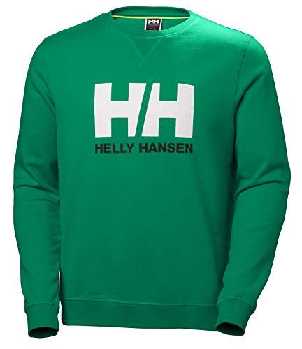 Helly Hansen Logo Crew Sweat Sudadera Deportiva, Hombre, Verde (Pepper Green), L