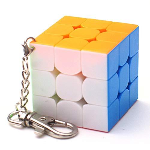 RENFEIYUAN Portable 40mm Mini mA Ciondolo Creativo con Catena per Borsetta/Zaino/Decorazione Portachiavi Rubiks cubo