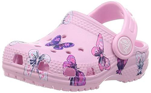 Crocs Classic Butterfly Clog Ps Freizeit Flip Flops und Unisex Sportwear für Kinder, Rosa (Ballerina Pink), 30/31 EU