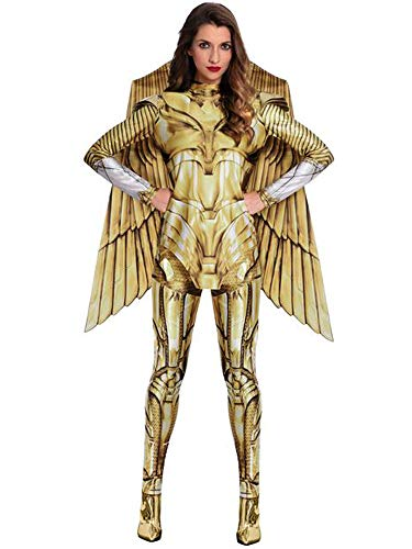 amscan Costume da Donna per adulti Wonder Woman Gold Hero Fancy Dress...