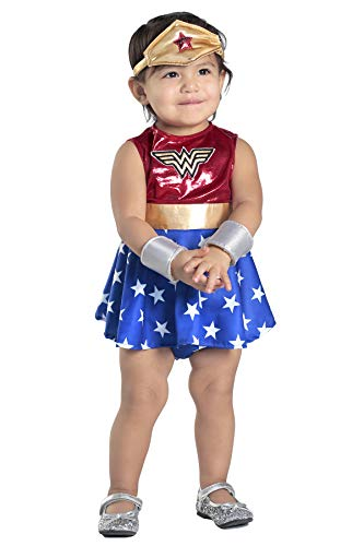 Princess Paradise Baby Girls' Wonder Woman Costume Dress and Diaper Cover Set, As Shown, 12 to 18 Months