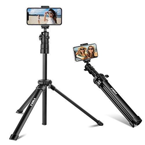 ViWAA Selfie Stick Tripod, 51-inch Extendable Phone Tripod with 360° Ball-Head, Lightweight...