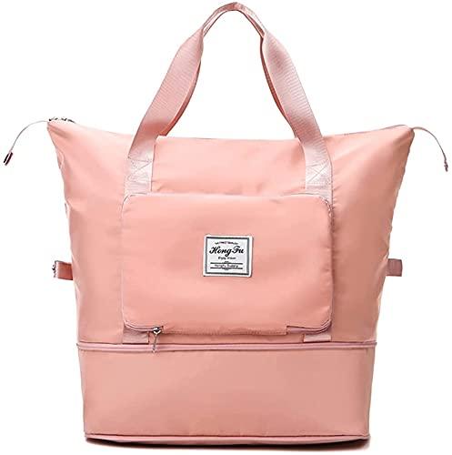 Borsa da viaggio pieghevole con grande capacità, borsa sportiva per la cintura fissa, borsa leggera impermeabile per viaggi fuori, Graziosa polvere, Set di valigie