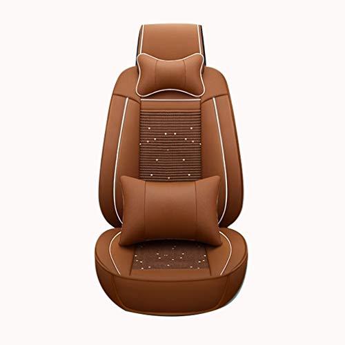 Housse de Sieges Auto Car Seat Covers, 5 Siège résistant Mat flux Pad durable Tissu Tapis arrière respirant Confort Coussin de protection en cuir Ensemble complet compatible Universal Airbags