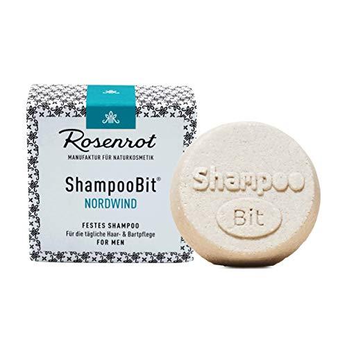Rosenrot Naturkosmetik - ShampooBit® - festes Shampoo MEN Nordwind - 55g - Für die tägliche Haar- und Bartpflege