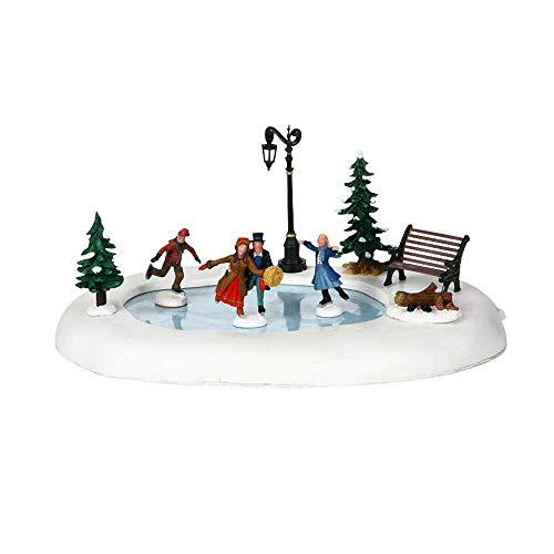 Lemax Christmas, Winter Skating, 94024, decorazione a batteria per villaggio natalizio (4,5 V)