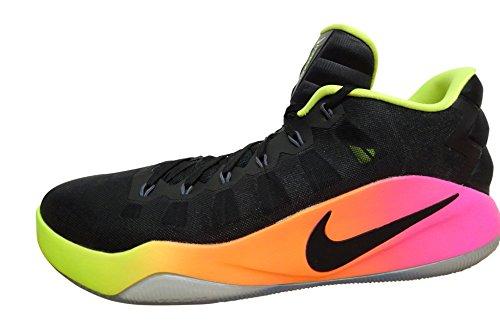 Nike Hyperdunk 2016 Low, Scarpe da Basket Uomo, Nero (Nero/Bianco-Volt-Total Orange), 44