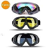 JTENG Skibrille Schutzbrille Motocross Goggle Sportbrille Schneebrille Wintersport Brille Winddicht Staubschutz Fliegerbrille Snowboardbrille Schneebrille Skibrille (3pcs)