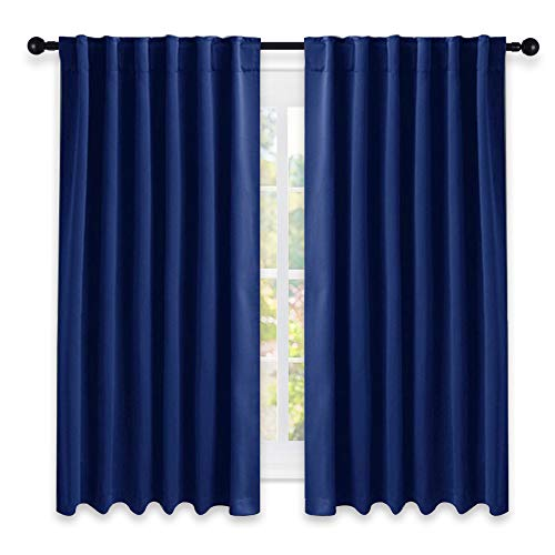 NICETOWN Blackout Draperies Curtains Window Drapes - (Royal Navy Blue Color) 52