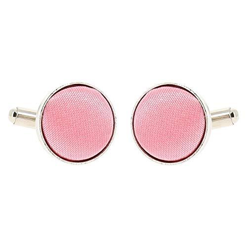 Boutons de Manchette Rose pale pour Homme - Accessoire Poignet Chemise et Veste de Costume - Mariage, Cérémonie