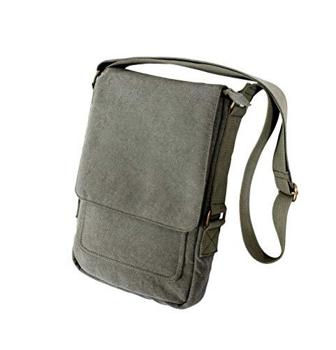 Rothco Vintage Canvas Military Tech Bag, Olive Drab