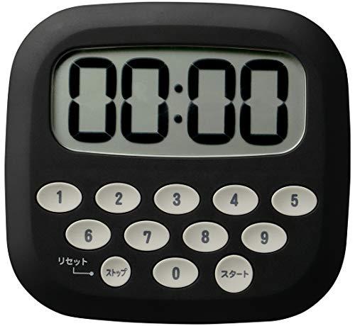 MAG(マグ) デジタルタイマー 10キー アラーム マグネット付き 置き掛け兼用 ブラック TM-602BK