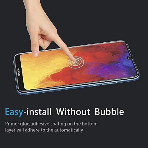 Didisky Panzerglas Hartglas Displayschutzfolie für Huawei Y6 2019/Y6 Pro, [4er Pack ] Kratzfest, 9H Härte, Keine Blasen, High Definition, Einfach anzuwenden, Fall-freundlich - 4